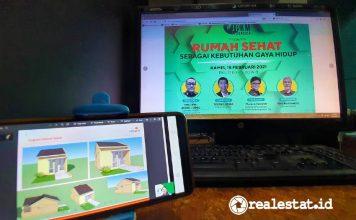webinar Rumah Sehat Sebagai Kebutuhan Gaya Hidup Jurnalis Peduli Kesehatan Masyarakat JPKM realestat.id dok