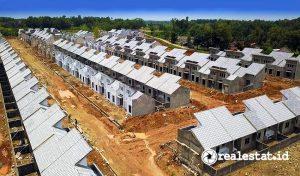 Progres pembangunan Cluster Ramma, Modernland Cilejit. (Foto: Dok. Modernland)
