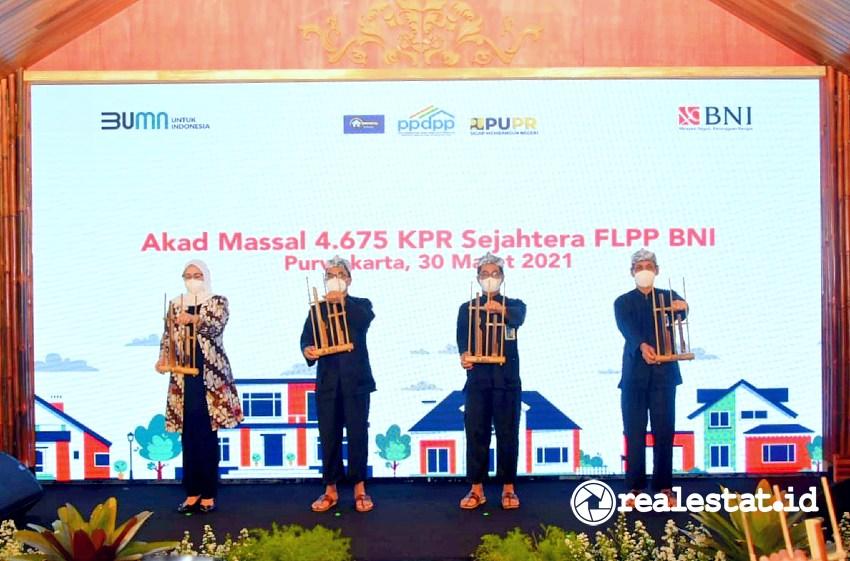 Akad massal 4.675 KPR FLPP Bank BNI (Foto: Dok. PPDPP)