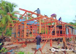 Pembangunan Rumah Khusus (Rusus) Nelayan di Kubu Raya, Kalimantan Barat (Foto: Kementerian PUPR)