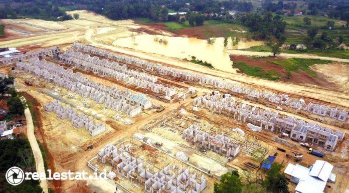 Progres pembangunan rumah di Modernland Cilejit.