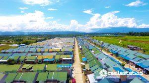 Perumahan subsidi di Papua. (Foto: Dok. Kementerian PUPR)