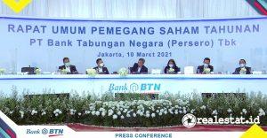 Rapat Umum Pemegang Saham Tahunan (RUPST) Bank BTN (Foto: realestat.id)