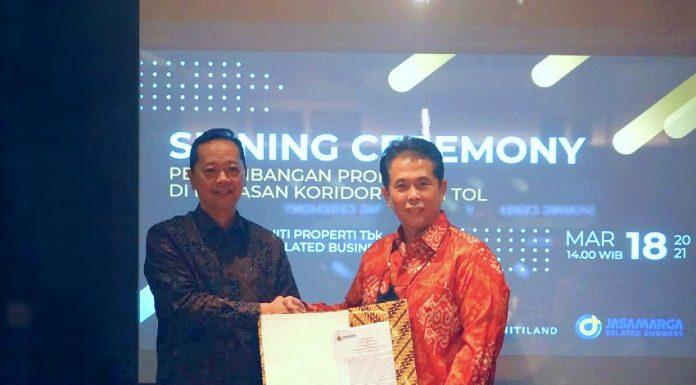 signing ceremony triniti land jasamarga related business jmrb properti koridor jalan tol realestat.id dok