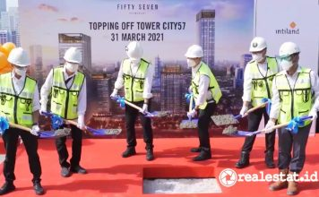 topping off tower city 57 promenade intiland realestat.id dok