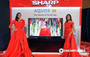 Peluncuran Sharp Aquos 8K di tahun 2018. (Foto: Dok. Sharp Indonesia)
