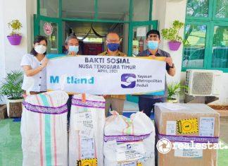 Metland REI Bantu Korban Bencana Alam NTT realestat.id dok