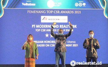 Modernland Realty Penghargaan TOP CSR Awards 2021 realestat.id dok