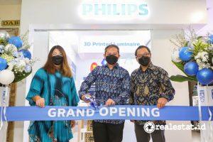 Peresmian Showroom Luminer Cetak 3D Signify di Plaza Kenari Mas Jakarta.