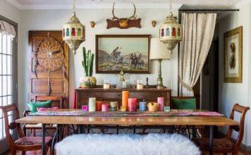 ruang makan bergaya Maroko, Inspirasi ruang makan, Morrocan design style,