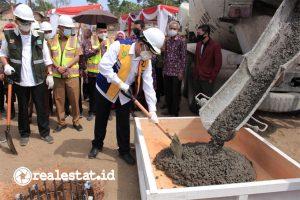 Prosesi pembangunan Rusun Universitas Muhammadiyah Jambi yang dilakukan Kementerian PUPR. (Foto: dok. Kementerian PUPR)