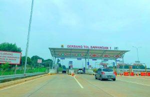 Gerbang Tol Sawangan 1 (Foto: Dok. polri.go.id)