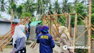 Pelaksanaan Program BSPS (bedah rumah) di Gorontalo (Foto: Dok. Kementerian PUPR)