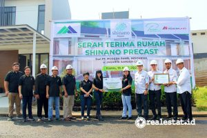 Serah terima unit Shinano Precast,  Jakarta Garden City (Foto: Dok. Modernland Realty)