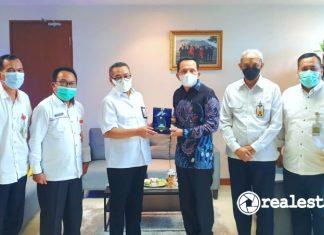 Direktur Jenderal Perumahan Kementerian PUPR Khalawi Abdul Hamid menerima audiensi Walikota PrabumulihRidho Yahya realestat.id dok