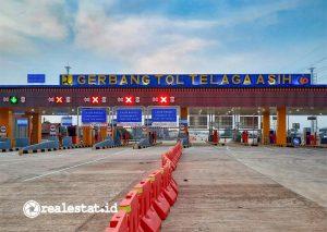 Gerbang masuk ruas Tol Cibitung - Cilincing. (Foto: Adhitya Putra)