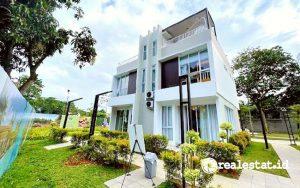 Tampak belakang rumah di Cluster DUO, Talaga Bestari, Tangerang (Foto: Dok. Intiland)