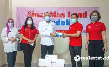 sinar mas peduli salurkan Ribuan Alat Tes Covid-19 Kabupaten Tangerang realestat.id dok