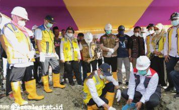 Ground Breaking Rumah Khusus masyarakat terdampak bencana Dompu Nusa Tenggara Barat Kementerian PUPR realestat.id dok