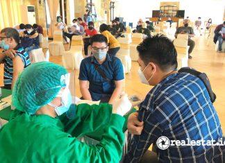 Paramount Land Gelar Program Vaksinasi di Wilayah Gading Serpong realestat.id dok