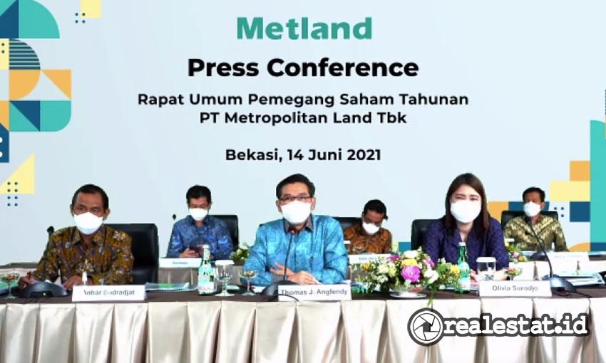 RUPST PT Metropolitan Land, Tbk, Senin, 14 Juni 2021