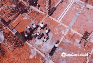 Progres pembangunan Rusun Mahasiswa Stisipol Raja Haji di Kepulauan Riau. (Foto: Dok. Kementerian PUPR)