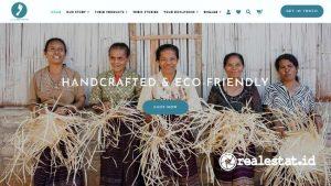 Tampilan website Selo Footprints
