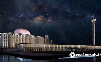 arsitektur masjid istiqlal setelah renovasi realestat.id dok