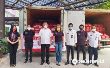 Bantuan Pangan Sinar Mas Land Tangsel Tangerang Selatan realestat.id dok