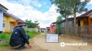 Kementerian PUPR salurkan bantuan prasarana, sarana, dan utilitas (PSU) kepada delapan pengembang perumahan subsidi di Gorontalo. (Foto: Kementerian PUPR)