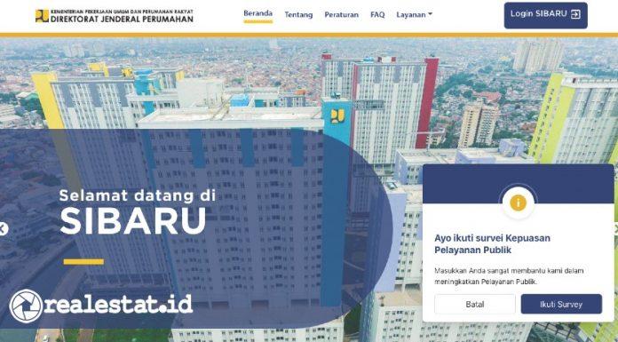 Program Perumahan website SIBARU kementerian pupr realestat.id dok