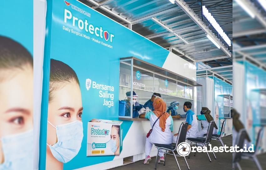 Wings Group menyelenggarakan Vaksinasi Gotong Royong.
