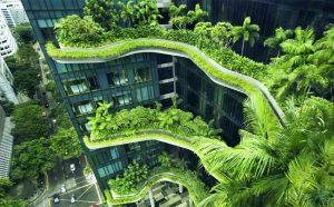 Bangunan ramah lingkungan di Singapura. (Foto: Twitter @WorldGBC)