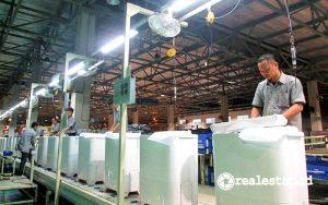 Proses produksi mesin cuci Sharp. (Foto: Dok. Sharp Indonesia)