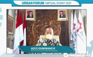 urban forum virtual event 2021 industri material kemenperin agus gumiwang realestat.id dok