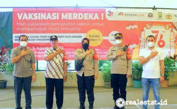 Kota Modern Bersama Polsek Tangerang Gelar Vaksinasi Merdeka Modernland Realty realestat.id dok