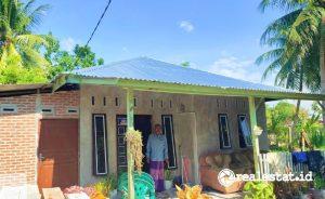Rumah di Kabupaten Bireuen, Aceh yang mendapat bantuan Program BSPS (Foto: Kementerian PUPR)