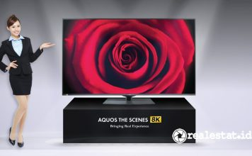 TV Android Sharp AQUOS THE SCENES 8K DW1X realestat.id dok