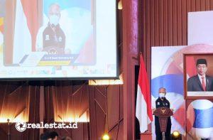Menteri PUPR, Basuki Hadimuljono di peringatan Hapernas 2021 (Foto: Dok. Kementerian PUPR)