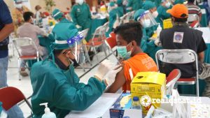 Vaksinasi yang dihelat Ciputra Group.