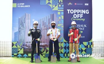 topping off ceremony tower sapphire cisauk point adhi commuter properti realestat.id dok