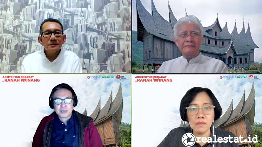 webinar Arsitektur Beradat Di Ranah Minang Minangkabau kenari djaja realestat.id dok