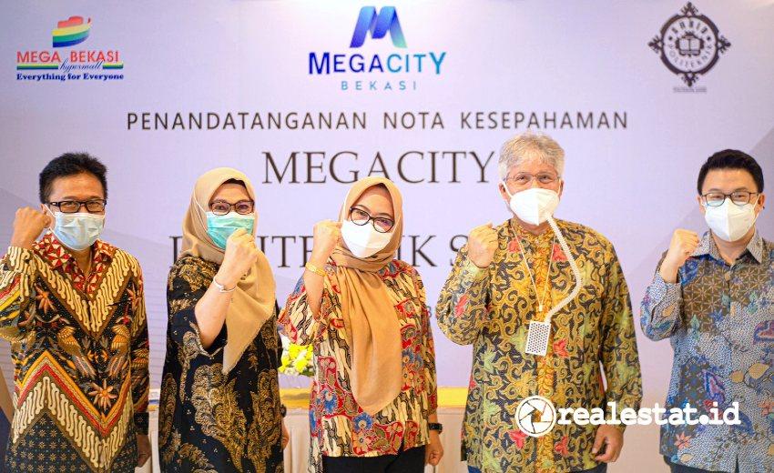 Penandatanganan Nota Kesepahaman antara MoU MegaCity Bekasi dengan Politeknik Sahid, Jumat, 10 September 2021. (Foto: Dok. MegaCity Bekasi)