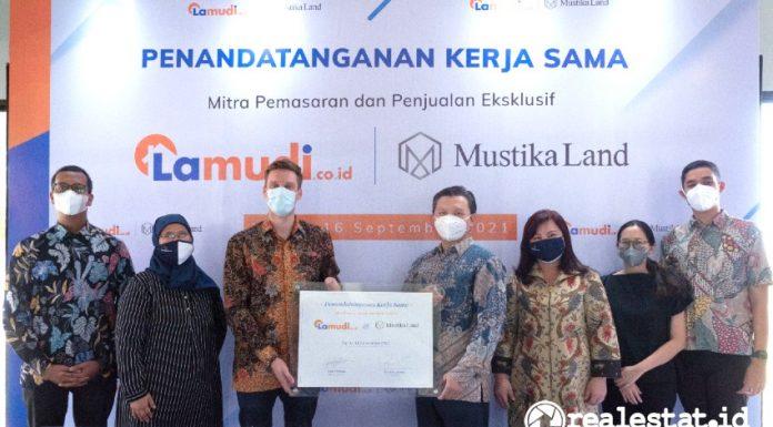 Penandatanganan Kerja Sama antara Lamudi dengan Mustika Land, Kamis, 16 September 2021.