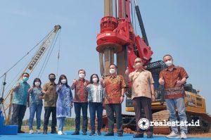 Groundbreaking Living World Grand Wisata Bekasi, Kamis, 30 September 2021.