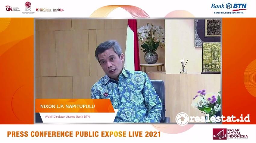 Wakil Direktur Utama Bank BTN, Nixon LP Napitupulu.