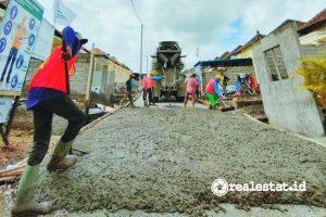 Pembangunan jalan perumahan subsidi di Bali (Foto: Kementerian PUPR)