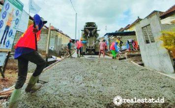 pembangunan jalan perumahan subsidi PSU Bali Kementerian PUPR realestat.is dok