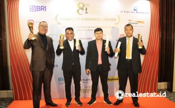 Modernland Cilejit Raih Penghargaan Properti Indonesia Award (PIA) 2021 realestat.id dok