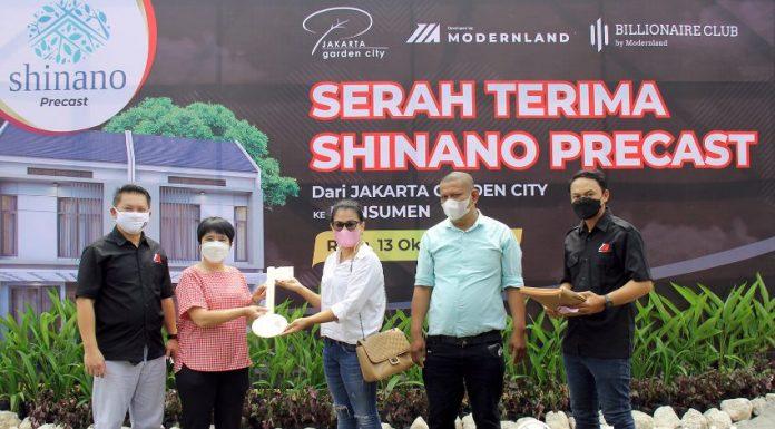 Serah Terima Rumah Shinano Precast Jakarta Garden City Modernland Realty realestat.id dok